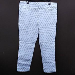 Loft | Geometric Riviera Pants Marisa Sz 0P